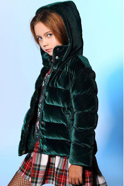Купить Куртка, Y-clu', Зеленый, Полиэстер-95%, Эластан-5%, Женский