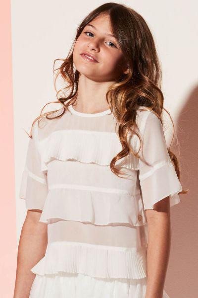 Купить Блуза, Gaudi, Белый, Полиэстер-100%, Женский