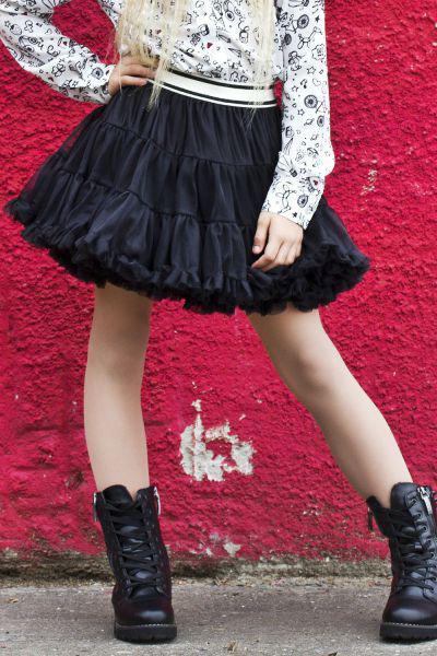 Юбка Gaialuna для девочки GA620621 чёрный, Китай (КНР)