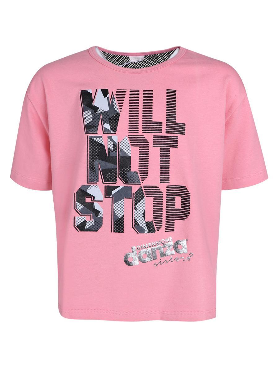 футболка dimensione danza для девочки, розовая