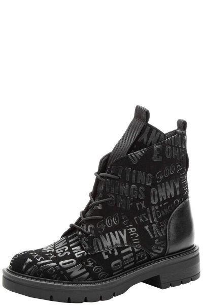 Купить Ботинки, Betsy, Черный, Искусственный нубук-100%, Женский