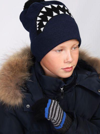 перчатки noble people для мальчика, голубые