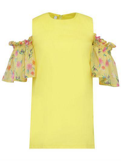 Купить Платье, Y-clu', Желтый, Хлопок-98%, Эластан-2%, Женский