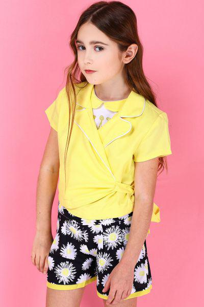 Блуза, To Be Too, Желтый, Полиэстер-100%, Женский  - купить со скидкой