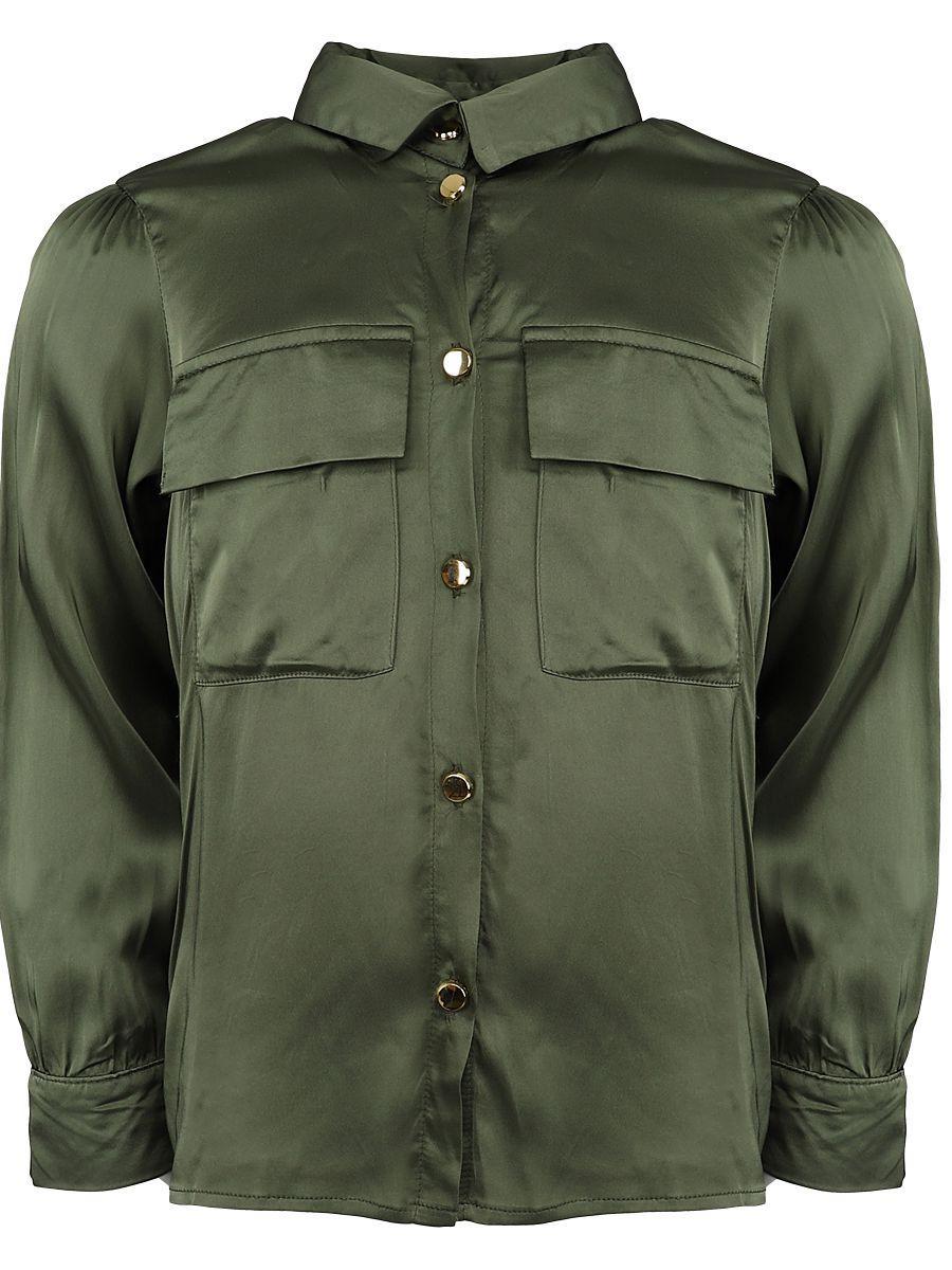 блузка y-clu' для девочки, зеленая