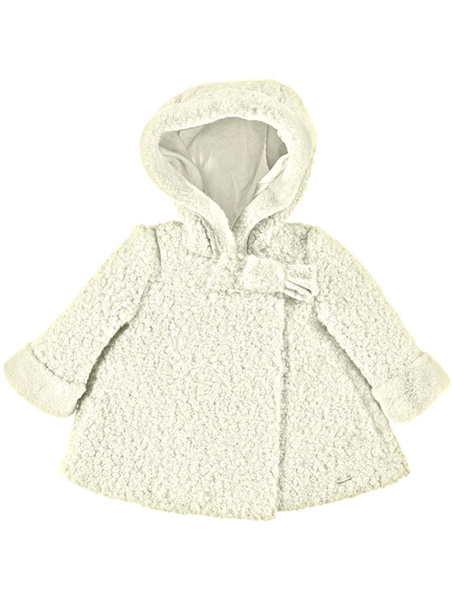 пальто mayoral для девочки, белое