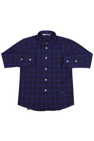 рубашка manuel ritz для мальчика, синяя