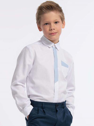 рубашка смена для мальчика, белая