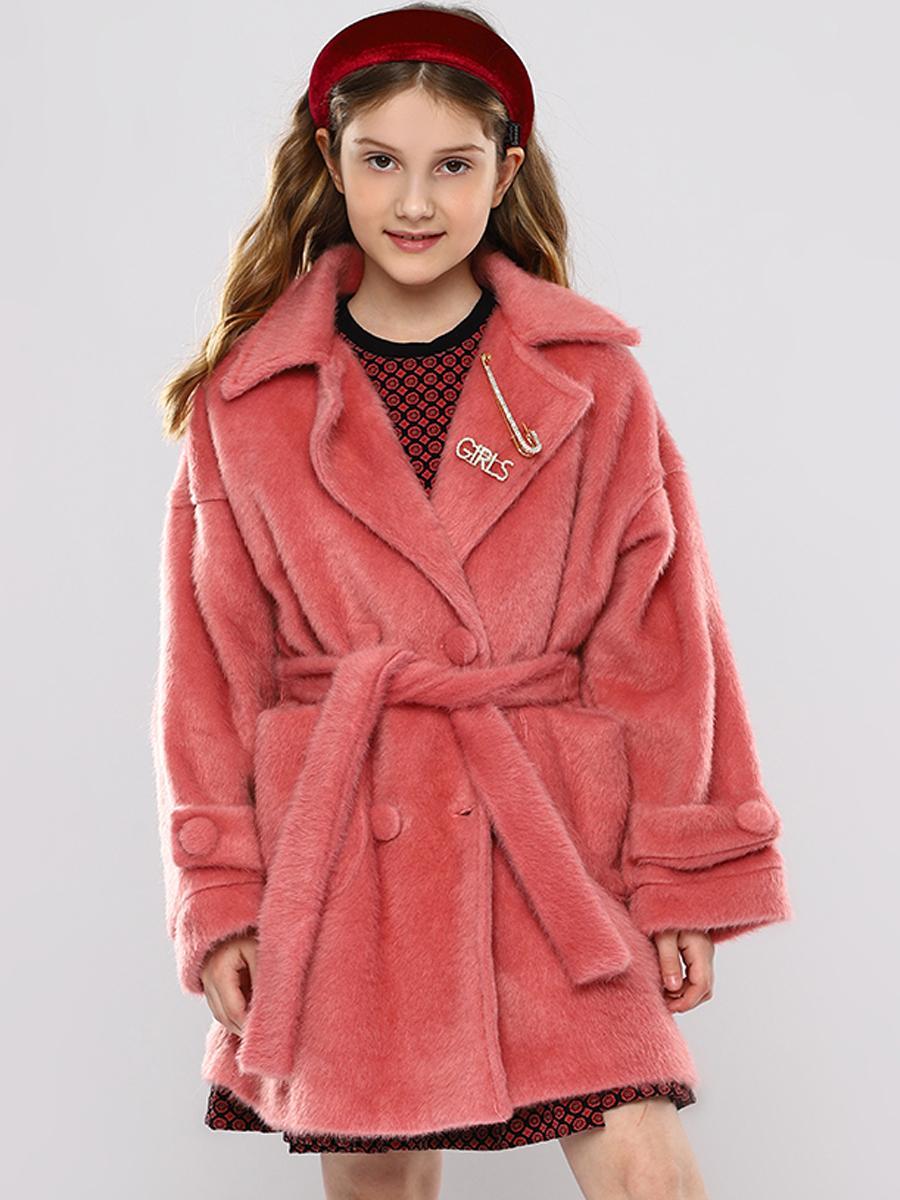 пальто y-clu' для девочки, розовое