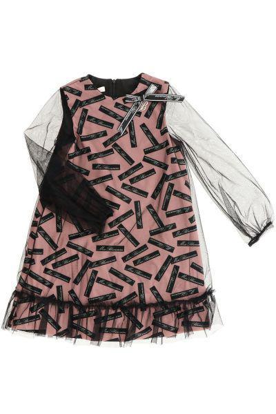 Купить Платье, Miss Blumarine, Розовый, Полиэстер-95%, Эластан-5%, Женский