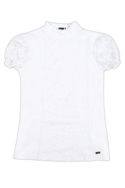 Купить Блуза, De Salitto, Белый, Хлопок-95%, Эластан-5%, Женский