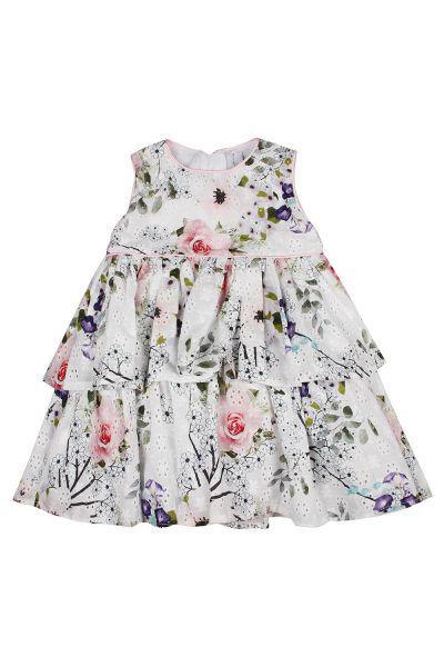 Купить Платье, Y-clu', Разноцветный, Хлопок-98%, Эластан-2%, Женский