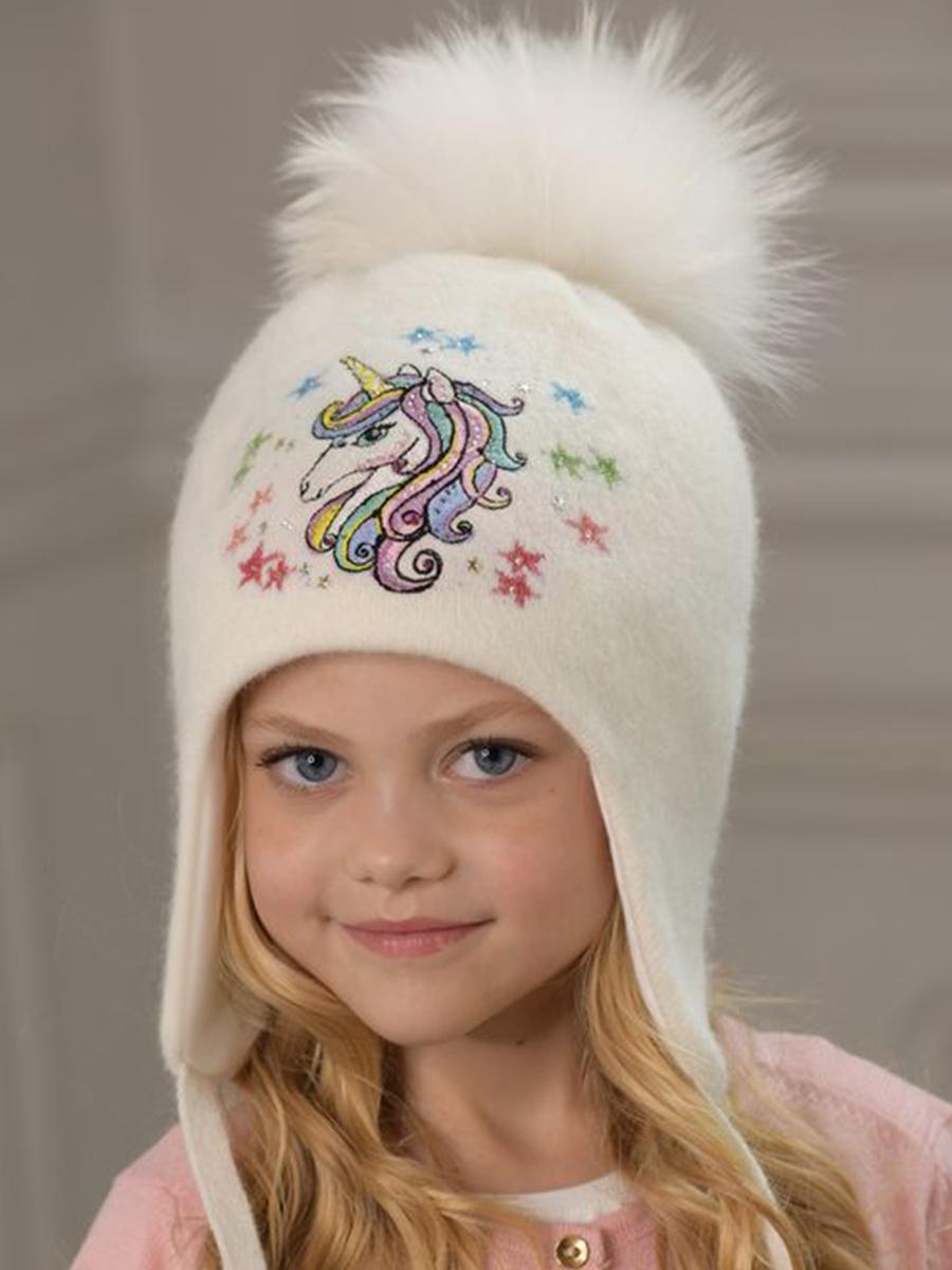 шапка dan&dani для девочки, белая