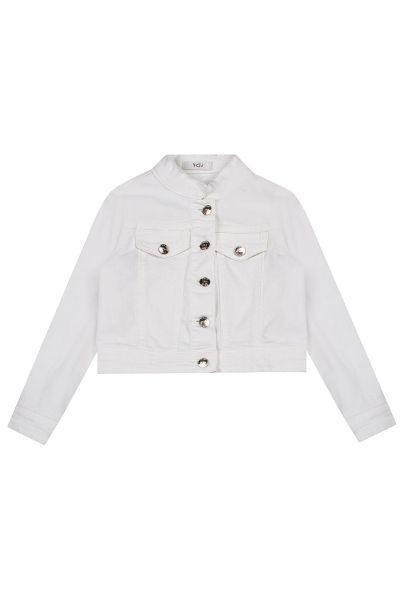 Купить Куртка, Y-clu', Белый, Хлопок-98%, Эластан-2%, Женский