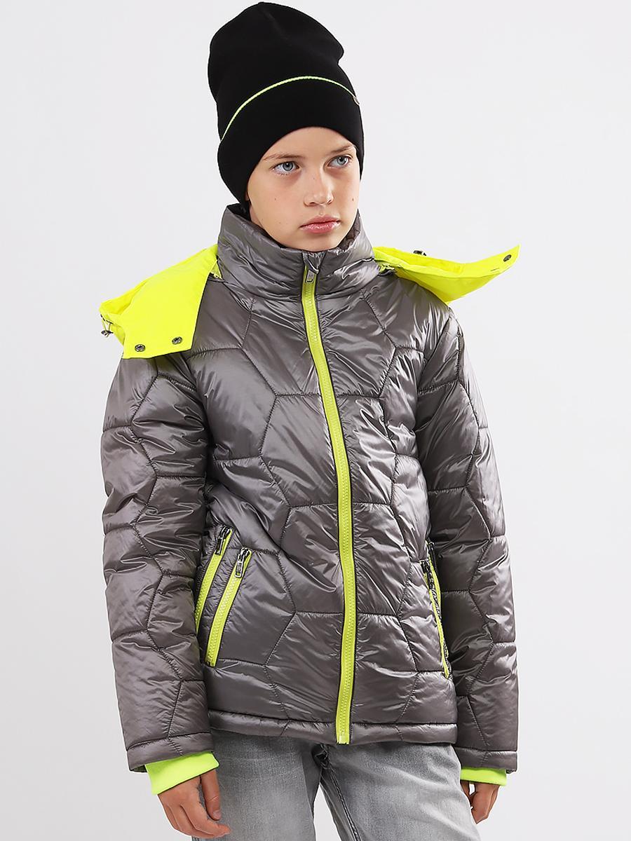 куртка noble people для мальчика, серая