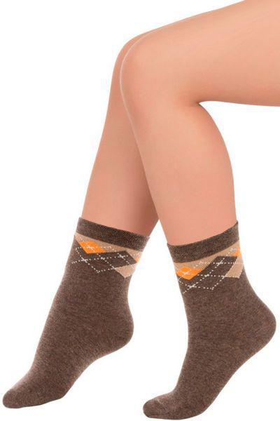 Носки для мальчика SNP-1451 коричневый Charmante, Китай (КНР)