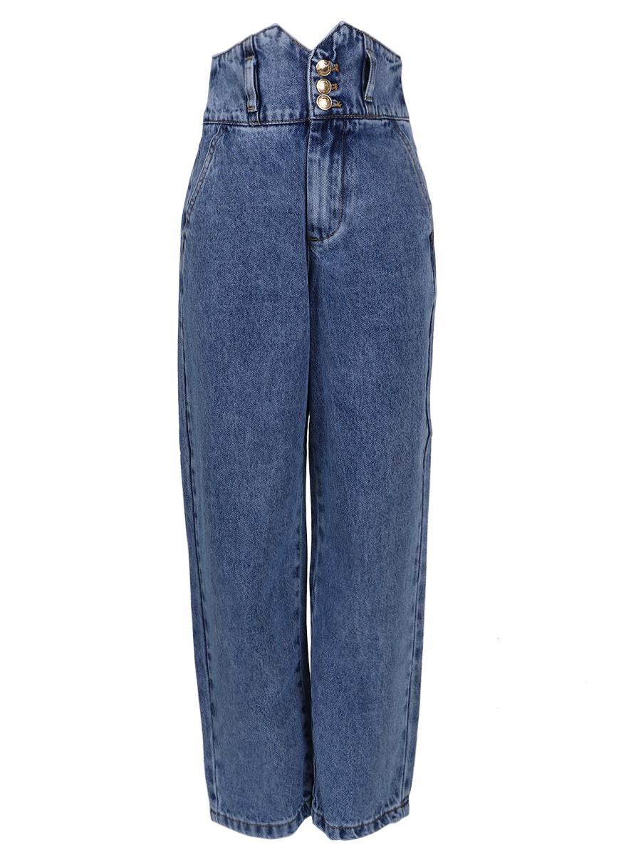джинсы to be too для девочки, синие