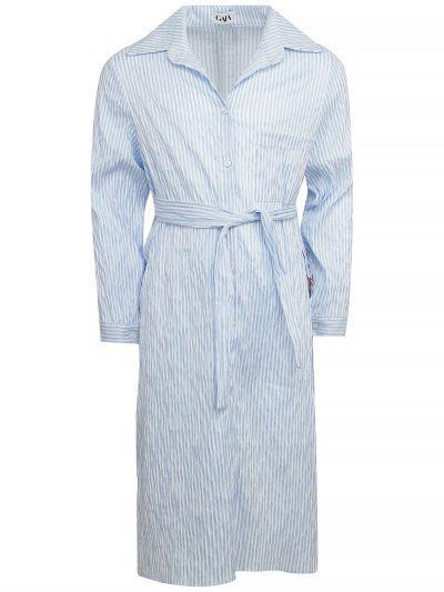 платье-рубашки gaialuna для девочки, голубое