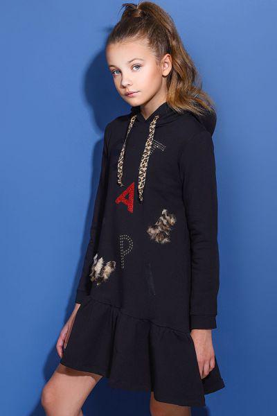 Купить Платье, Meilisa Bai, Черный, Хлопок-95%, Эластан-5%, Женский
