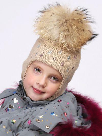Купить Шлем, Noble People, Бежевый, Шерсть-40%, Вискоза-30%, Полиамид-20%, Кашемир-10%, Женский