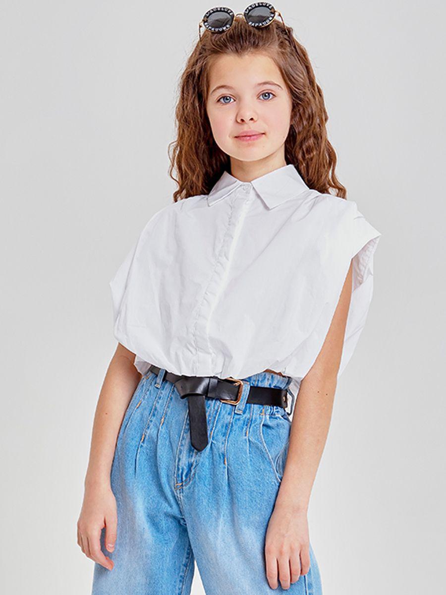 блузка to be too для девочки, белая