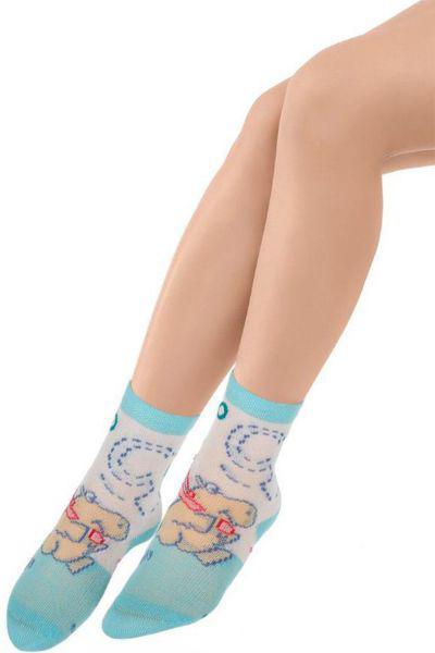 Носки для девочки SBBK-1477 голубой Charmante, Китай (КНР)