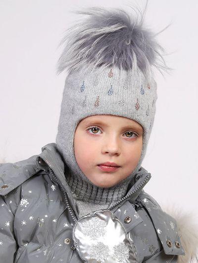 Купить Шлем, Noble People, Серый, Шерсть-40%, Вискоза-30%, Полиамид-20%, Кашемир-10%, Женский