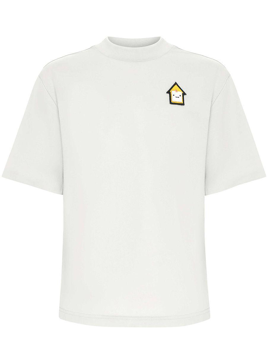 футболка смена для мальчика, белая