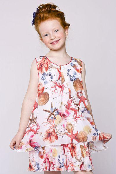 Платье для девочки BJ7910 разноцветный Byblos, Китай (КНР)