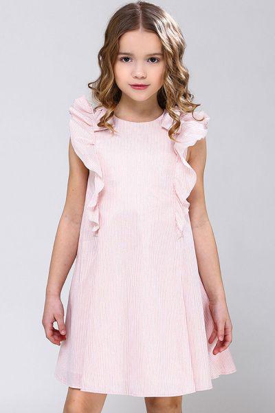 Купить Платье, Silver Spoon, Розовый, Полиамид-38%, Хлопок-37%, Полиэстер-18%, Люрекс-4%, Эластан-3%, Женский
