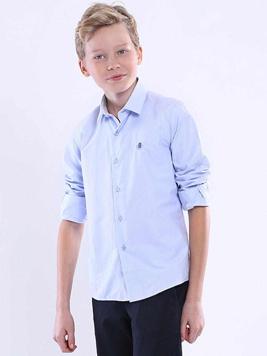 рубашка noble people для мальчика, голубая