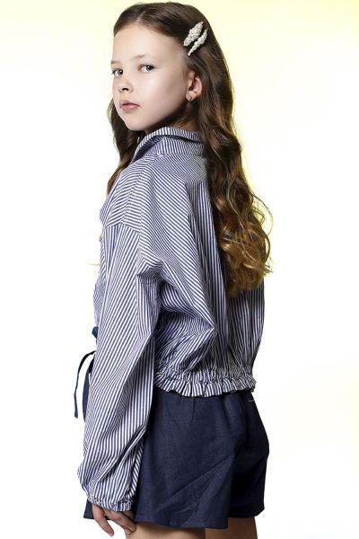 Блуза, Noble People, Синий, Хлопок-100%, Женский  - купить со скидкой
