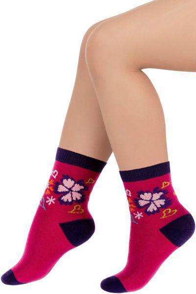 Носки для девочки SAK-13113 фиолетовый Charmante розовый, Китай (КНР)