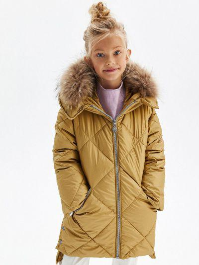 Купить Пальто, Pulka, Желтый, Нейлон-100%, Женский