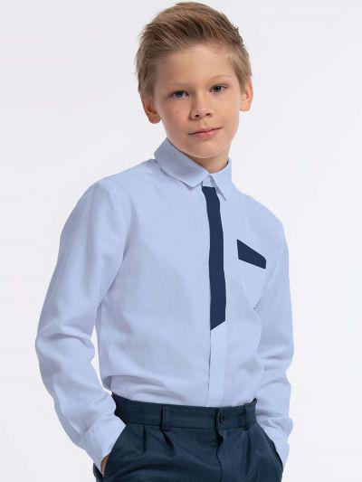 рубашка смена для мальчика, голубая