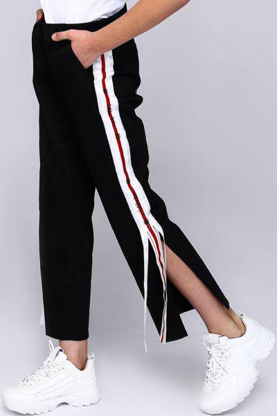 брюки gaialuna для девочки, черные