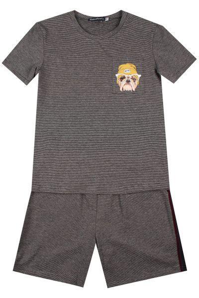 Купить Футболка+шорты, Noble People, Серый, Мужской