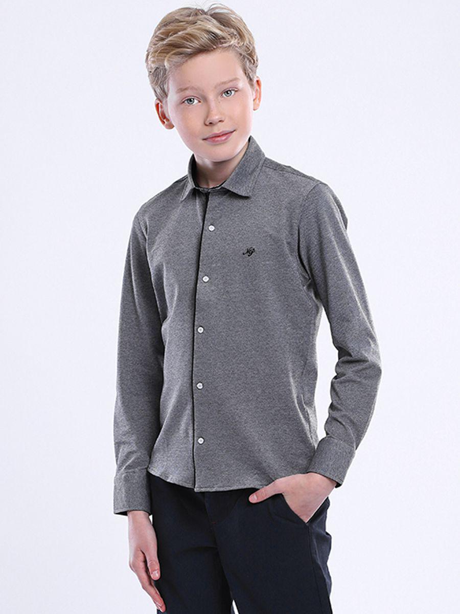 рубашка noble people для мальчика, серая