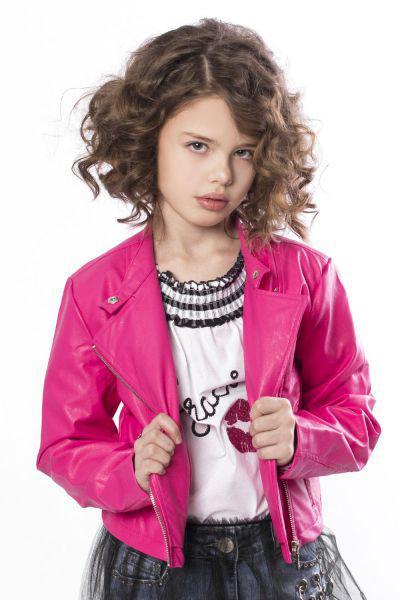 Купить Куртка, Gaialuna, Розовый, Полиуретан-100%, Женский