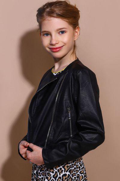 Купить Куртка-косуха, To Be Too, Черный, Полиуретан-100%, Женский