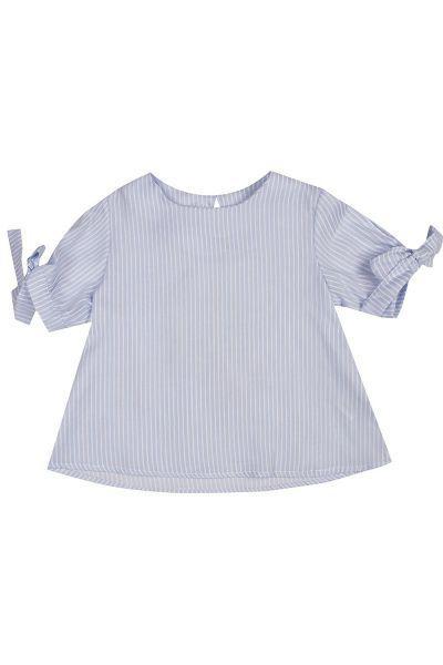 Купить Блуза, Manila Grace, Голубой, Хлопок-98%, Эластан-2%, Женский