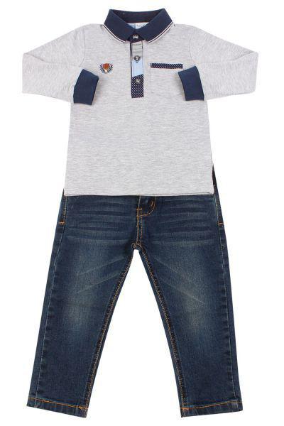 Купить Лонгслив+джинсы, Band, Разноцветный, Хлопок-50%, Полиэстер-45%, Лайкра-5%, Мужской