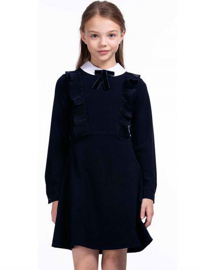 платье смена для девочки, синее