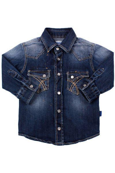 Рубашка для мальчика GB2790 синий Gas, Италия