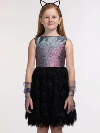 платье смена для девочки, разноцветное