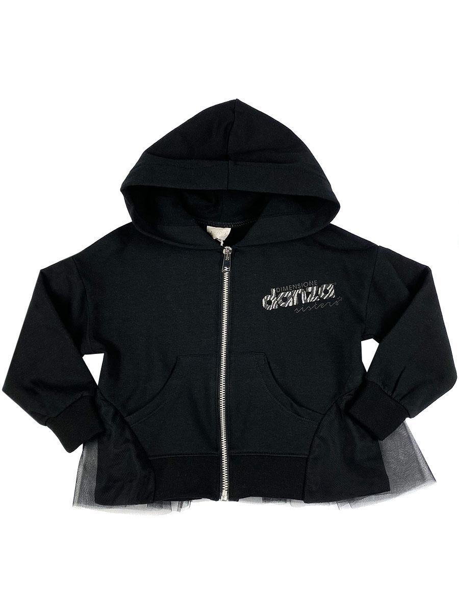 толстовка dimensione danza для девочки, черная