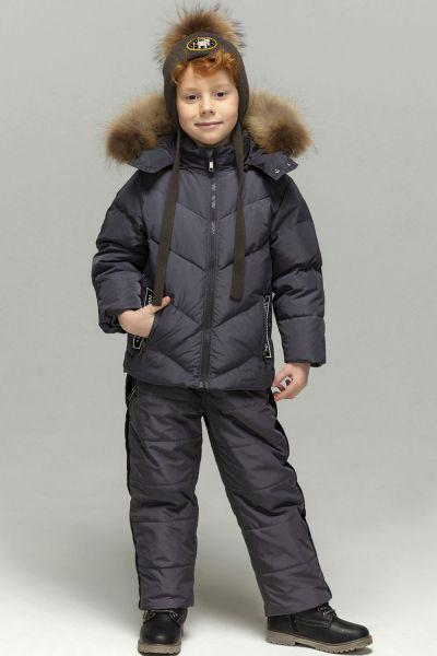 Купить Куртка+полукомбинезон18601-194, Noble People, Серый, Полиэстер-100%, Мужской