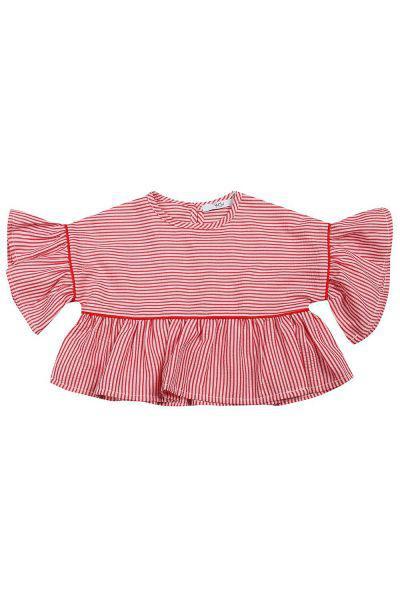 блузка y-clu' для девочки, разноцветная
