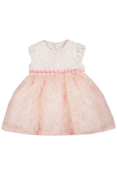 Купить Платье, Y-clu', Розовый, Хлопок-97%, Эластан-3%, Женский