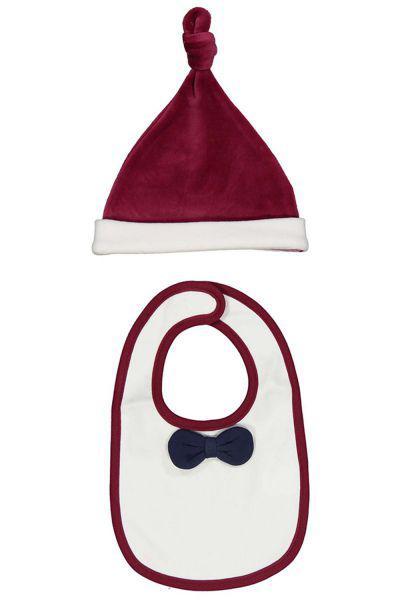 Купить со скидкой Слюнявчик+шапочка